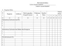 Contoh Program Kerja Tata Usaha ( TU ) Tahun Ajar 2016/2017