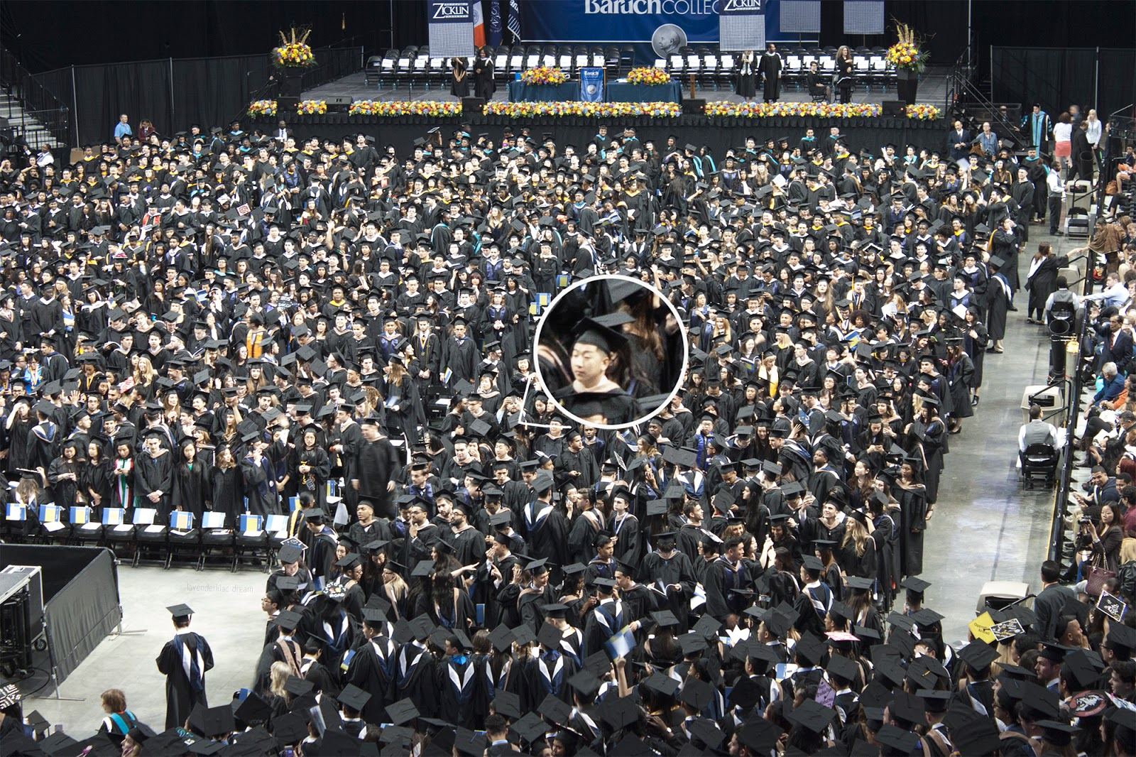 Baruch College, Barclays Center, Barclays Center inside, 2015 Commencement, undergraduate, graduation, New York