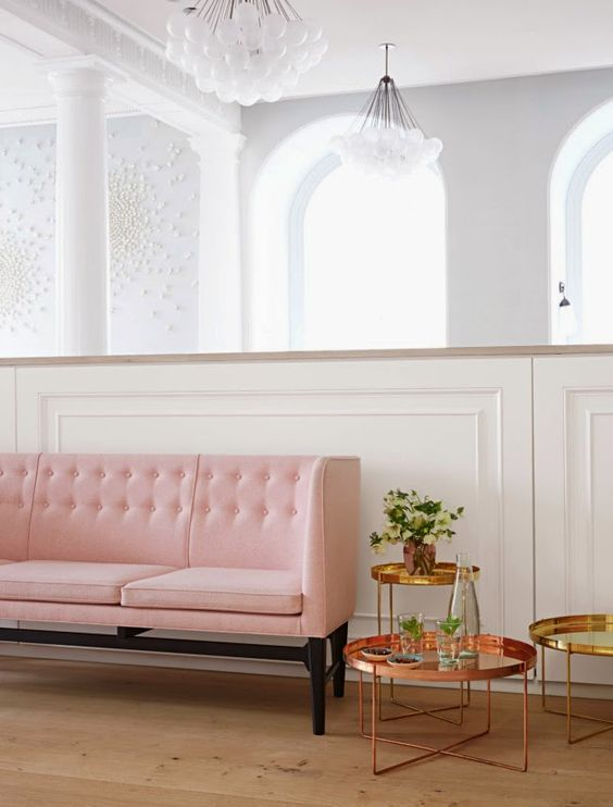 Pink and Brass Interior