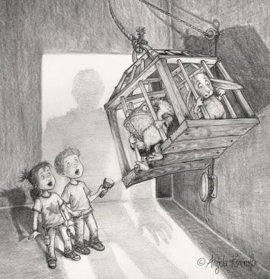 kinderbuchillustration, mumpitze, südpol verlag, Tiere,  Kröte, hase, bleistift, Kommoß