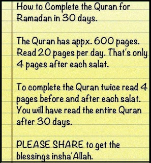 How to complete Quran in Ramadan