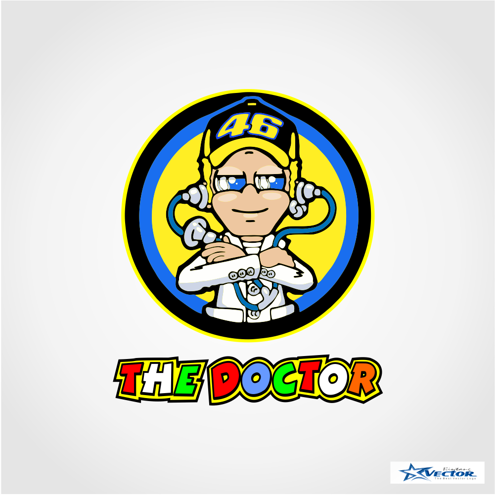 valentino rossi the doctor logo vector cdr download