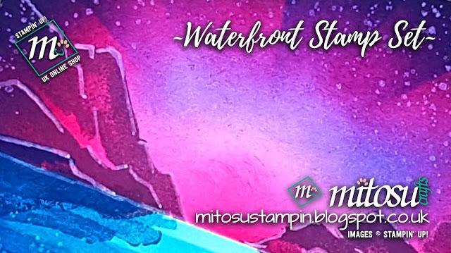 Stampin' Up! Waterfront SU Scene Card Idea. Order craft supplies from Mitosu Crafts UK Online Shop
