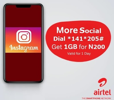 Airtel Instagram Bundle: Get 1GB For Only N200