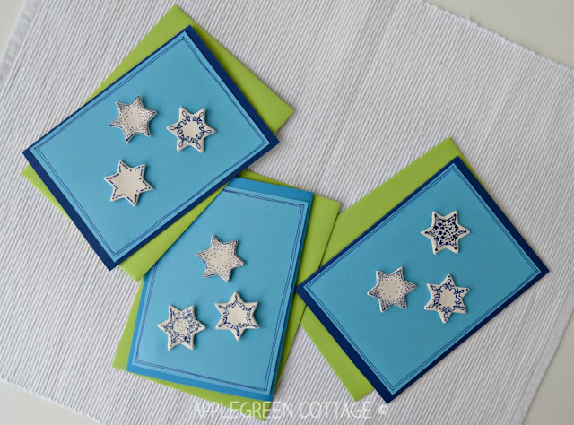 Christmas cards with clay decoration