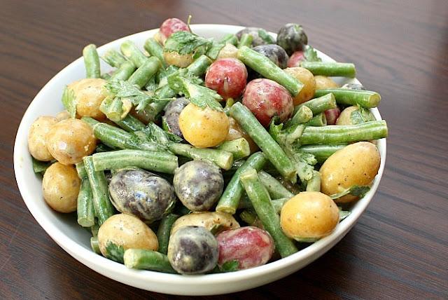 dijon mustard potato salad green beans