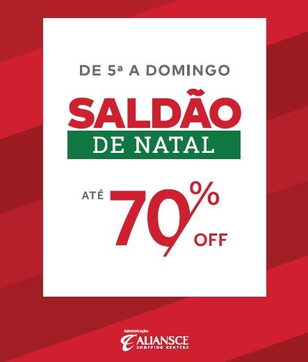 Shoppings da Aliansce promovem Saldão de Natal 2018