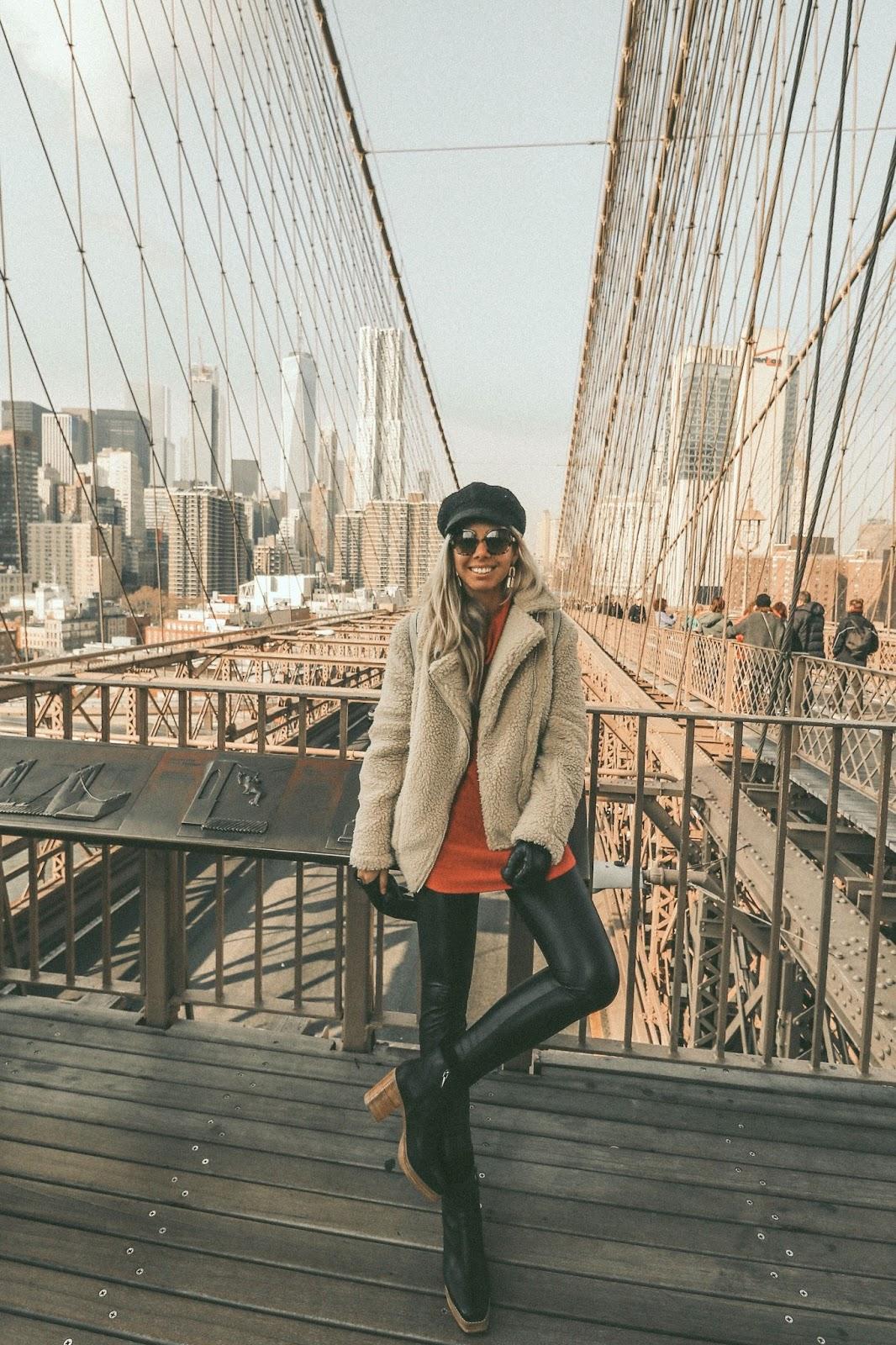 Brooklyn Bridge winter outfit