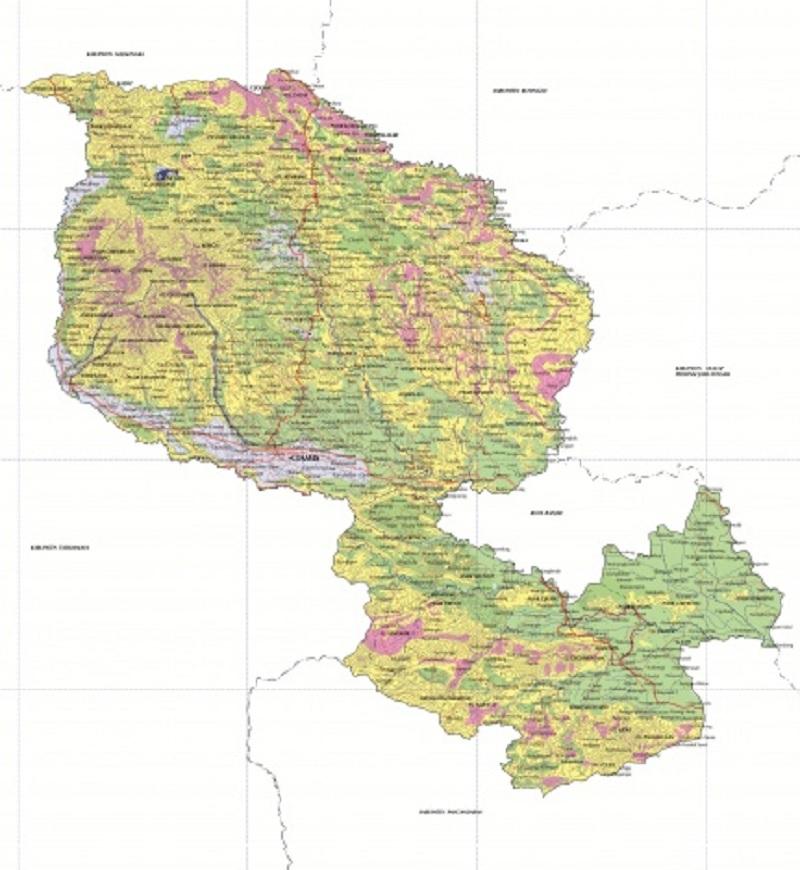 Peta Kabupaten Ciamis