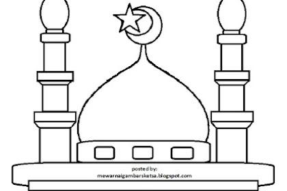 Gambar Mewarnai Tempat Ibadah