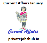 Current Affairs January