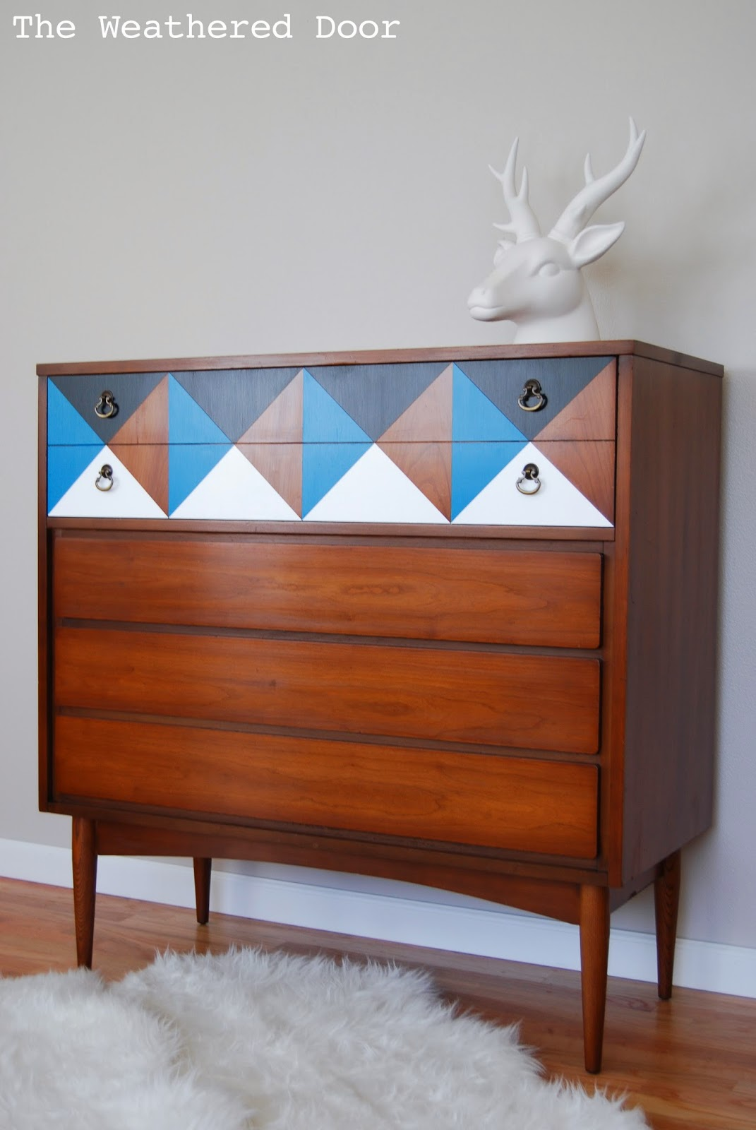 A Geometric Mid Century Dresser The Weathered Door