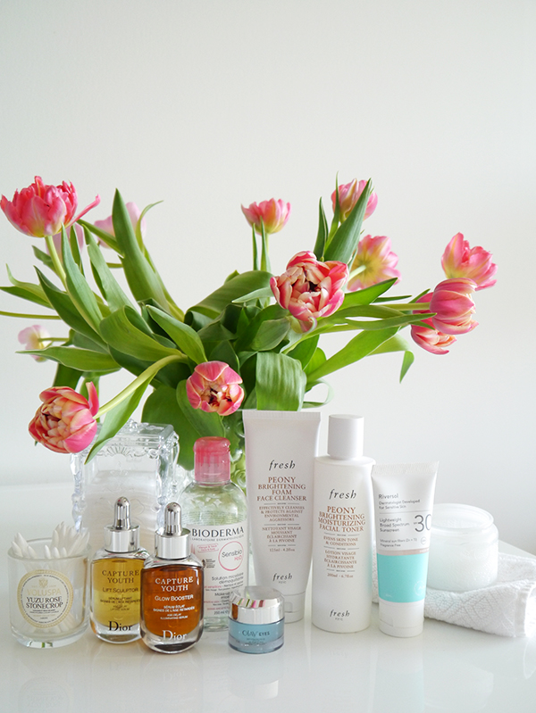 A round-up of natural, department store, drugstore, and local skincare finds from Dior, Bioderma, Olay, Riversol, and Fresh