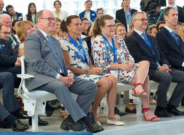 Prince Albert, Princess Stephanie and Camille Gottleib attended the Expo 2017 events in Astana. President Nursultan Nazarbayev