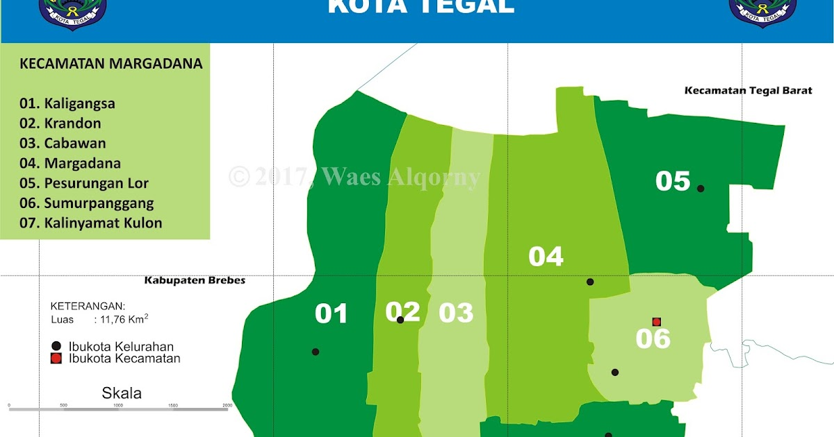 Peta Indeks Kecamatan Margadana Tegal - My Diary