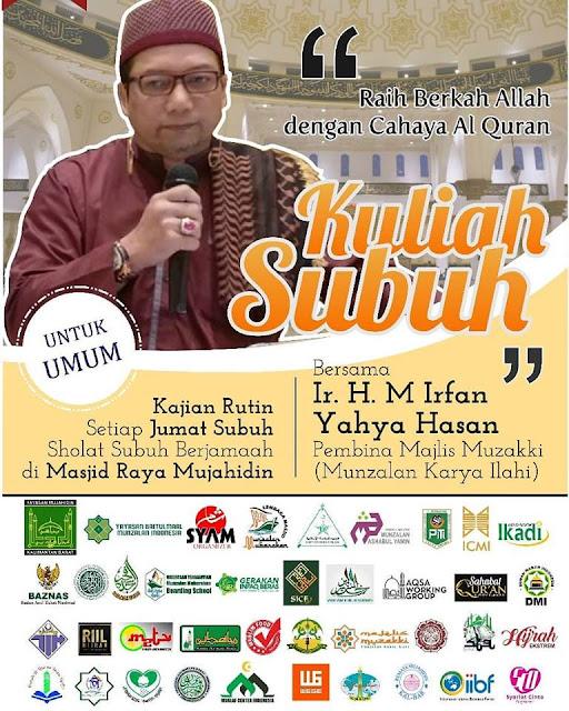 Poster Dakwah Abah Irfan Yahya Hasan.  Foto Facebook H.Muhammad Nur Hasan