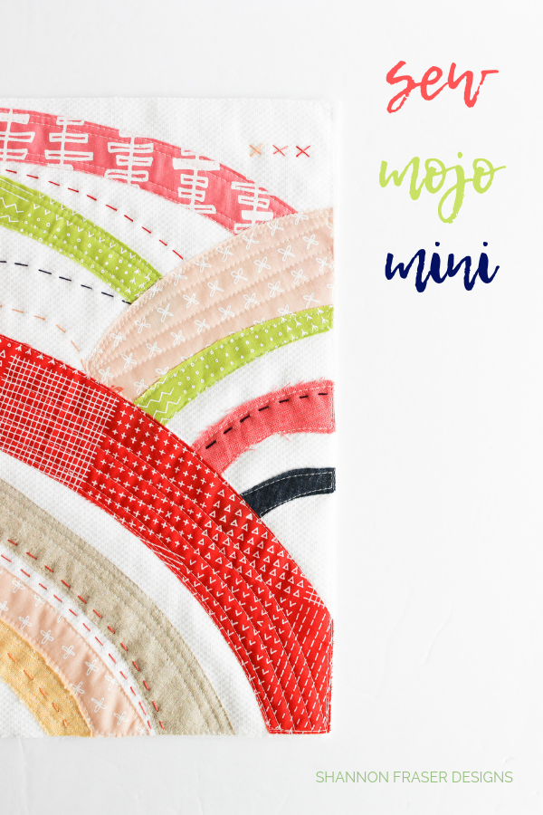 Sew Mojo Mini Quilt | Q2 2019 Finish-A-Long Proposed Projects | Shannon Fraser Designs