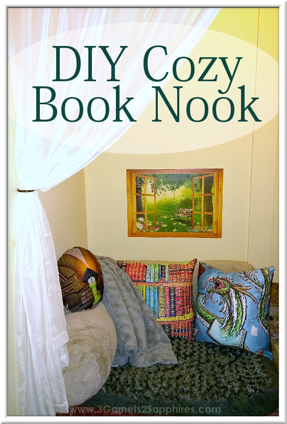 10 Things You'll Need for a DIY Closet Book Nook  |  www.3Garnets2Sapphires.com