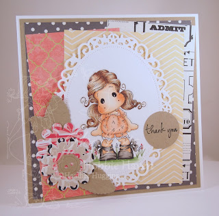 Heather's Hobbie Haven - Tilda with Ribbon Shoes Card Kit
