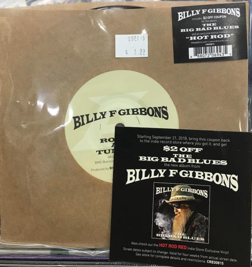 BILLY F GIBBONS (ZZ Top) - The Big Bad Blues (2018) disc
