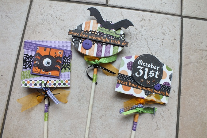Halloween Versiersels.Magical Scrapworld Halloween Plantenstekers