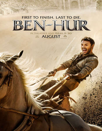 Poster Of Ben-Hur 2016 English 550MB BRRip 720p ESubs HEVC Free Download Watch Online Downloadhub.Net