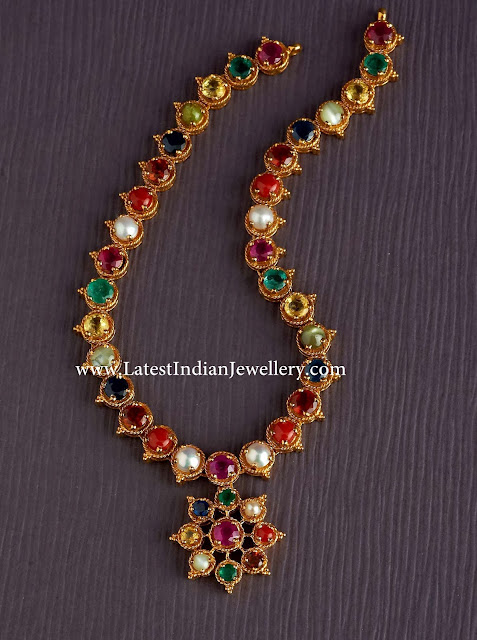 Magnificent Navaratna Necklace Latest Indian Jewellery