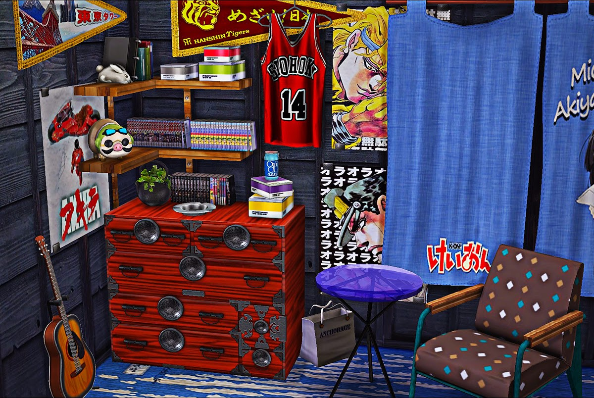 My Sims 4 Blog Japanese Dresser Stereo and Clutter Set