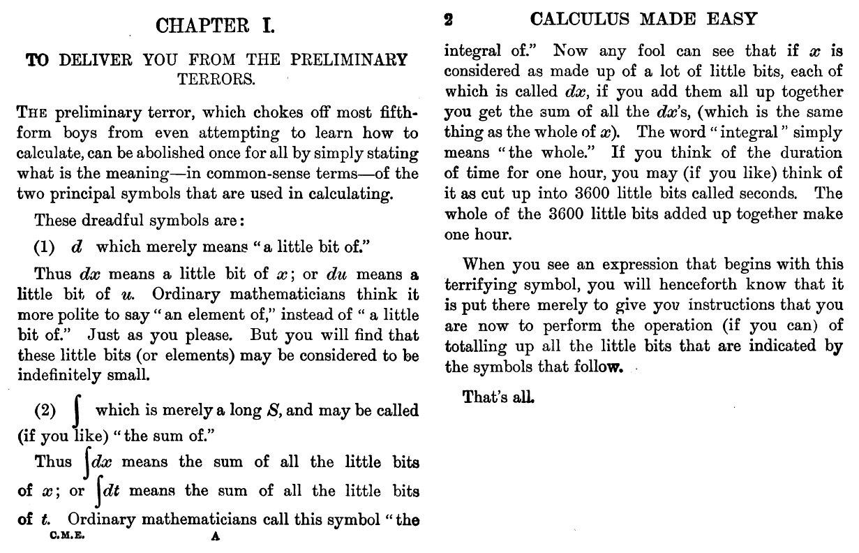 calculus made easy 1910 pdf