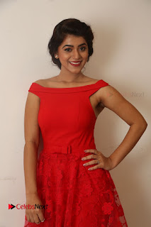 Actress Yamini Bhaskar Latest Pictures in Red Dress at 100 Days of Love Movie Audio Launch  0013