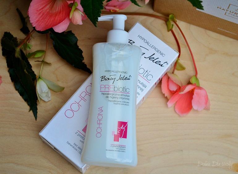 InspiredBy NATURALNIE PIĘKNA - Biały Jeleń PREbiotyk Emulsja do higieny intymnej hipoalergiczna