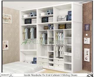 Dalam lemari minimalis pintu Sliding model cabinet unit Tx