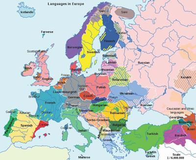 persebaran bahasa di eropa