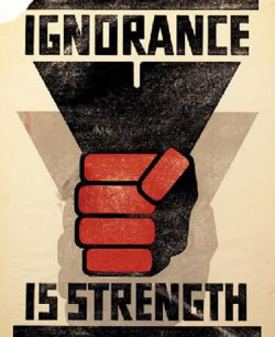 1984 ignorance is strength essay Essay editing services ignorance is strength- if people remain ignorant it's fairly obvious that the slogans in 1984 are forms of propaganda.
