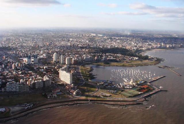 Imagem aérea de Montevideo