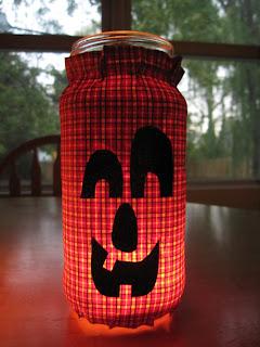 Jack o' Lantern Jars for Halloween
