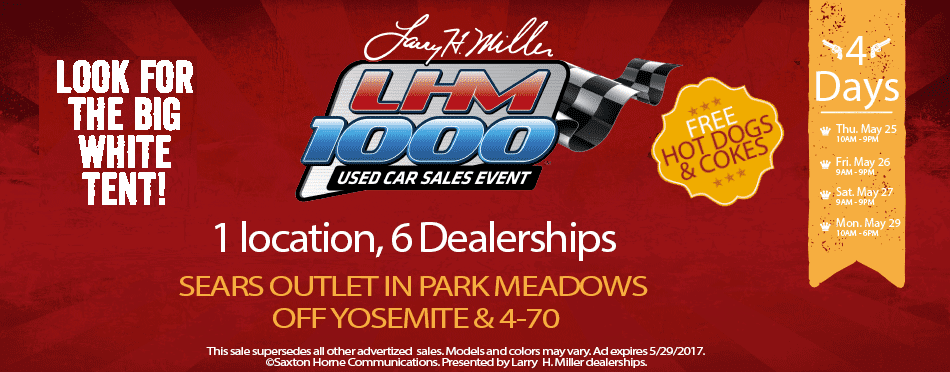 sc 1 st  Larry H. Miller Nissan Highlands Ranch & Donu0027t Miss the LHM 1000 Used Car Sales Event!