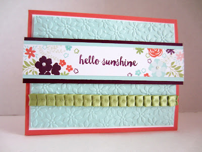 DIY hello sunshine beautiful card tutorial