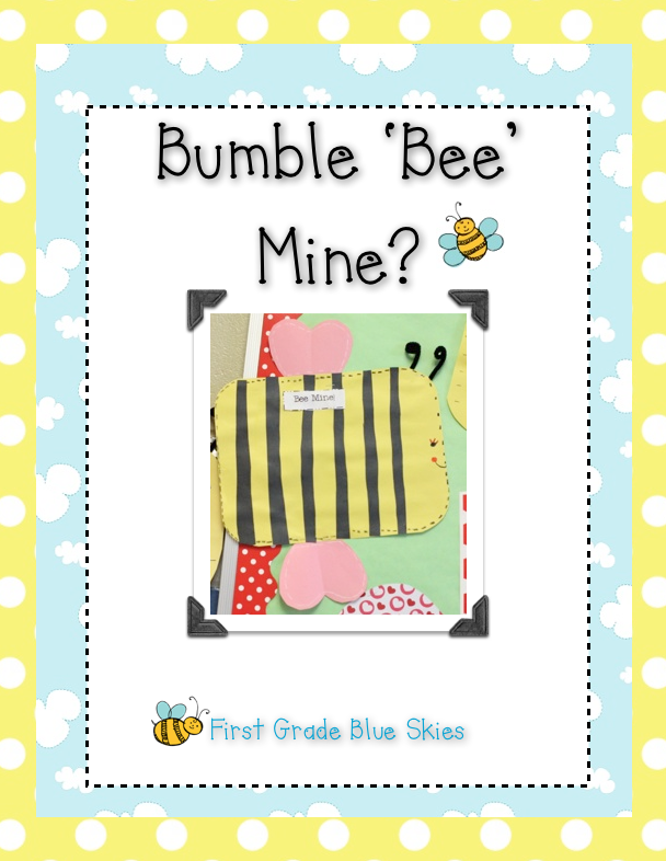 Bumble Bee Mine Easy Valentine Craft First Grade Blue Skies