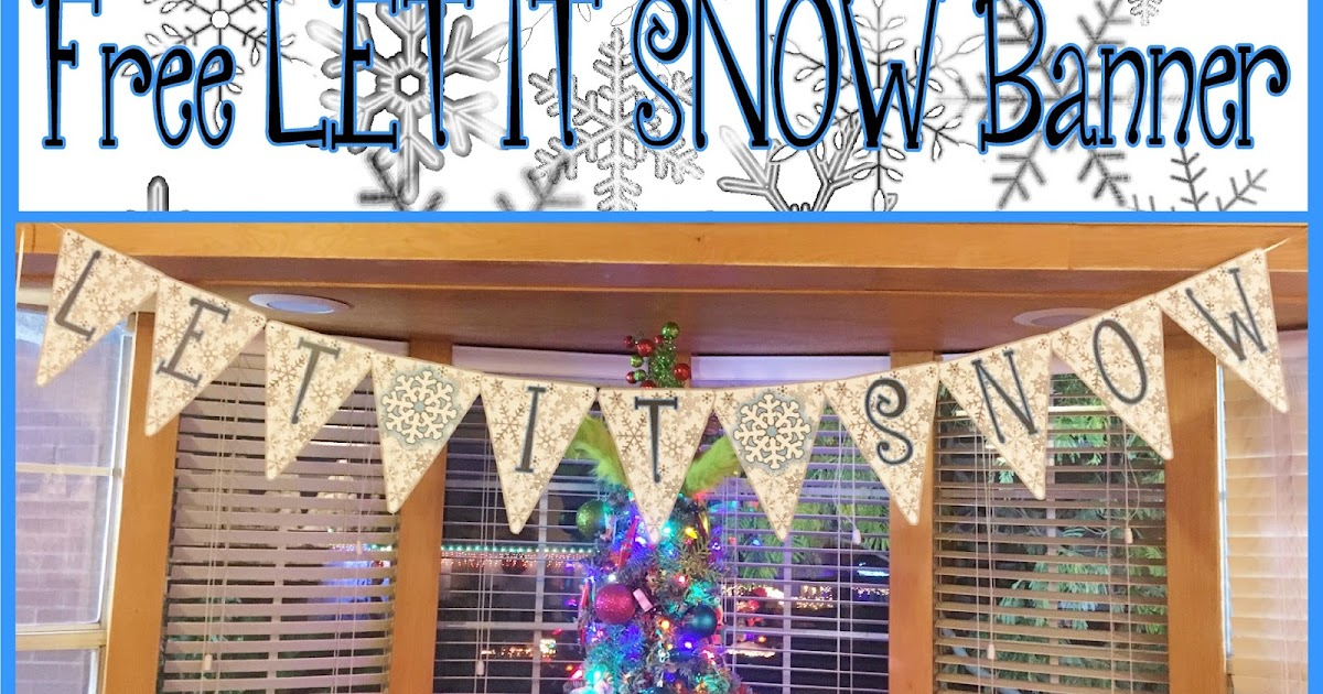 Let It Snow Banner  Let It Snow Buffalo Plaid Banner  Let It Snow  Christmas Banner  Holiday Banner  Baby It/'s Cold Outside