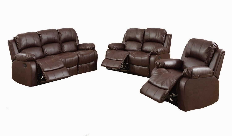 Cheap Reclining Sofas Sale: Brown Reclining Sofa Set