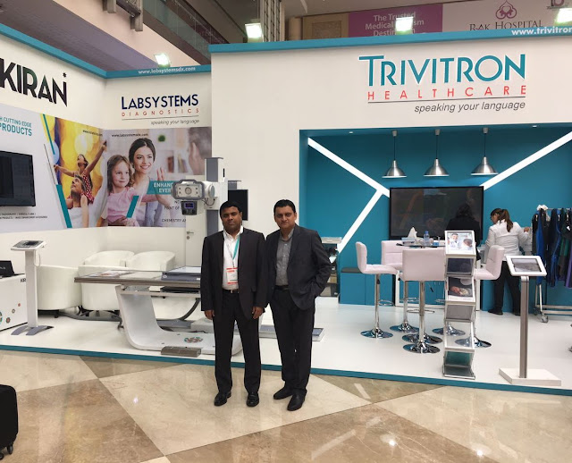 From left to right-Dr GSK Velu, Chairman & Managing Director, Trivitron Healthcare and Mr. Satyaki Banerjee, President, Kiran Medical Systems