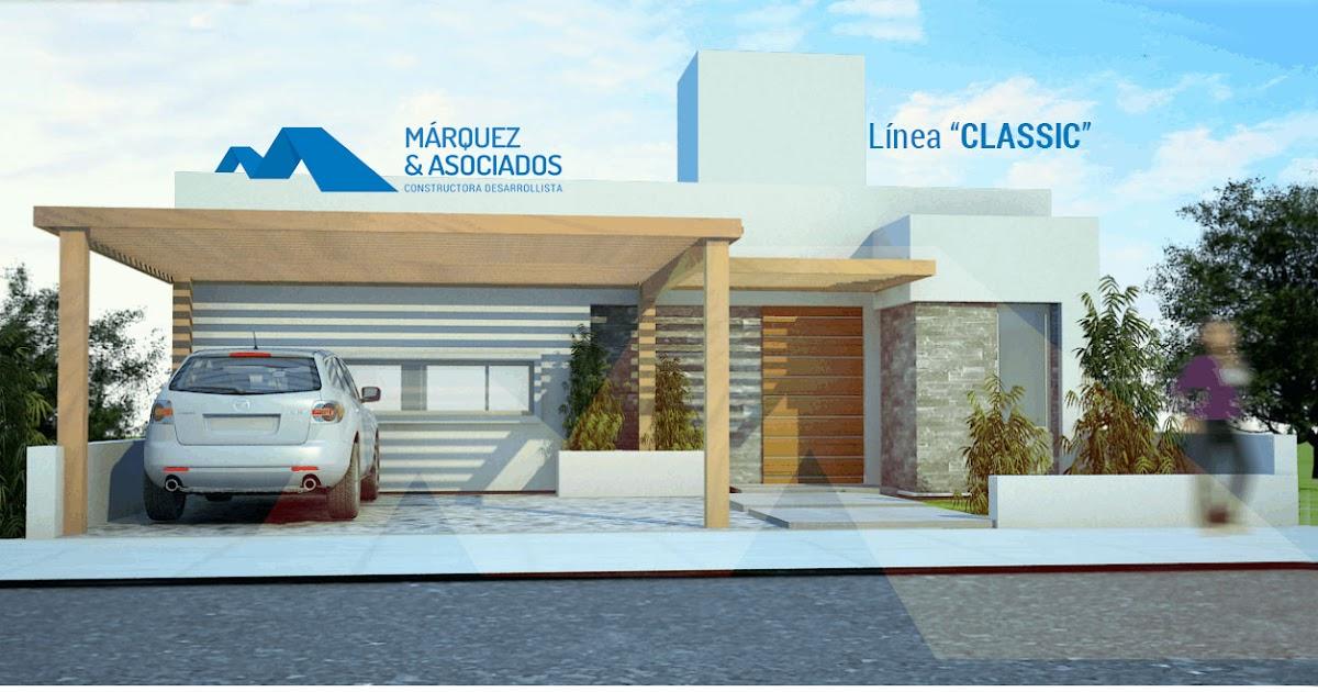 M rquez y asociados linea classic una casa moderna y for Casa moderna kw