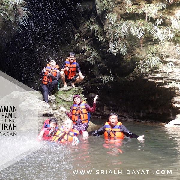 Pengalaman Seru Ibu Hamil Ikut Body Rafting di Santirah Pangandaran