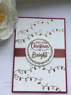 Making Christmas Bright Christmas card. Stampin Up