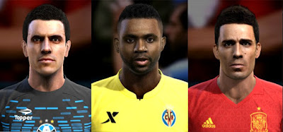 Faces: Marcelo Grohe, Cedric Bakambu, Bruno Soriano, Pes 2013