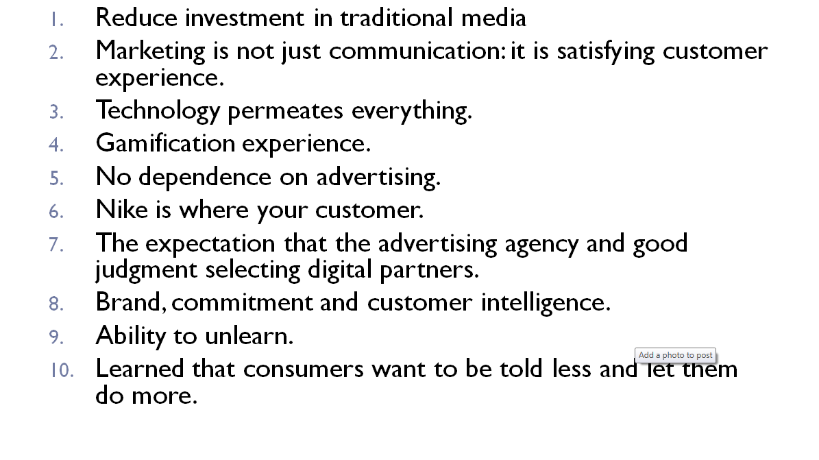 The 10 keys of new nike marketing strategy