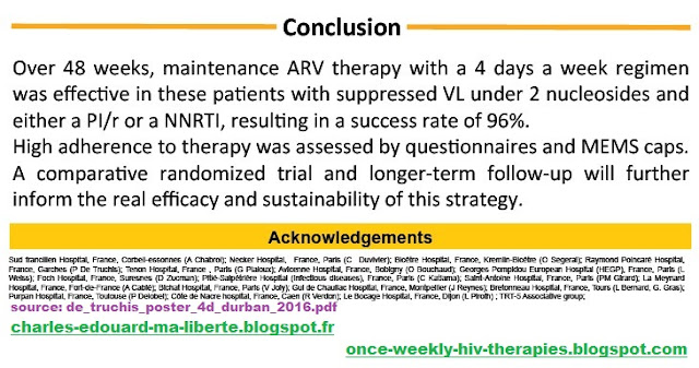 Leibowitch ANRS162-4D NCT02157311 hiv failure trial maintenance ARV therapy with a 4days