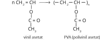 rumus struktur PVA (polivinil asetat)