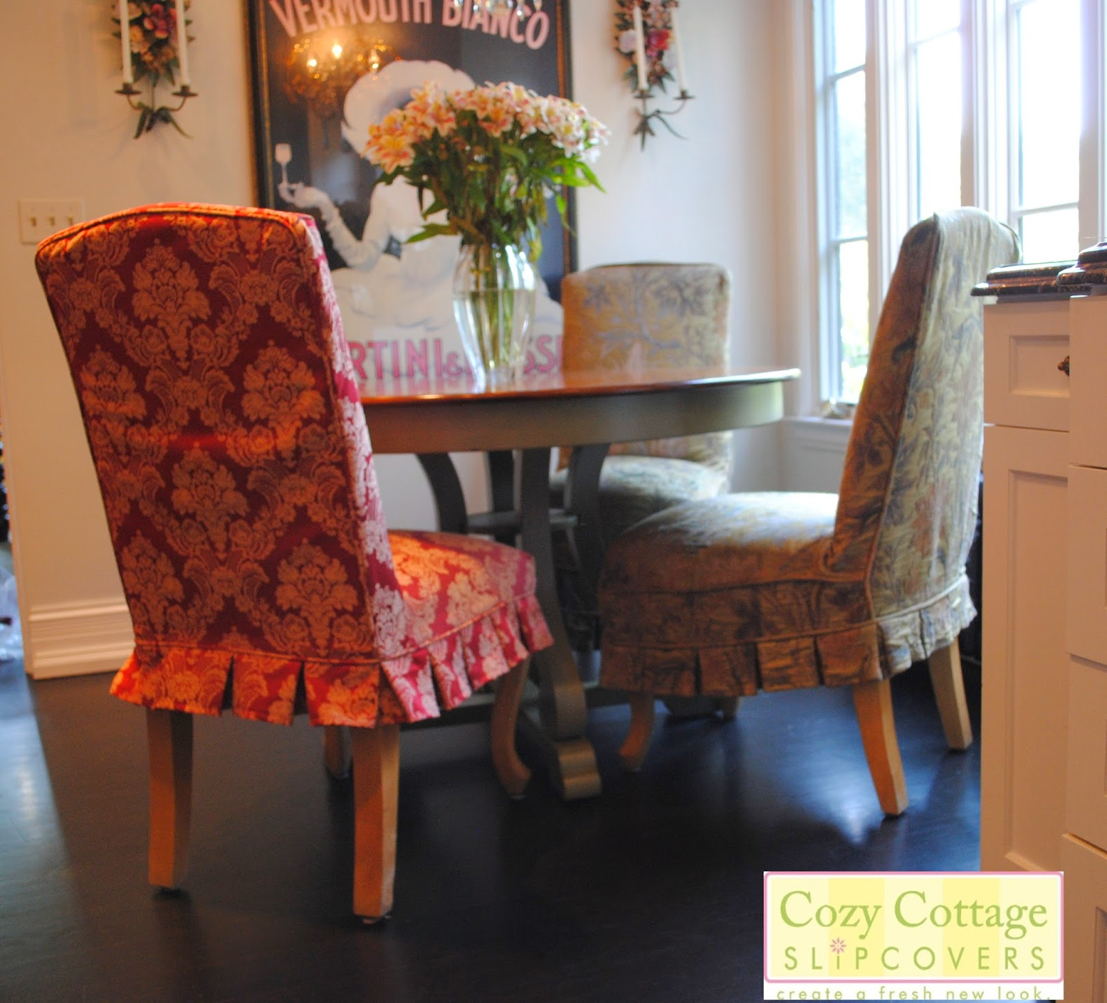 Parsons Chairs With Skirt Office Bean Bag Chair Cozy Cottage Slipcovers Pretty